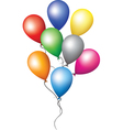 Balloons for holiday decoration vector image