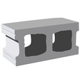 Cement block icon vector image