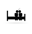 Couple on bed icon vector image