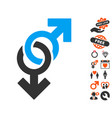 gay symbol icon with lovely bonus vector image