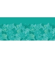 Green succulents horizontal seamless pattern vector image