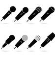 microphone set in black color art vector image