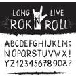 rocknroll alphabet font vector image