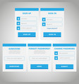 ui web elements flat design blue vector image