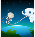 An astronaut in the outer space vector image