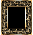background frame with vegetable golden ornament vector image