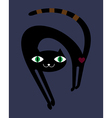 Black cat in the night vector image