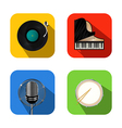 Music and party icons vector image