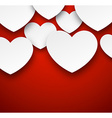 Paper white hearts vector image