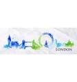 Silhouette watercolor London vector image vector image