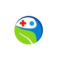 people health care medic cross logo vector image