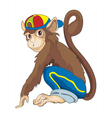 Monkey boy vector image