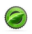 Green eco friendly tags vector image