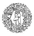 Hand-drawn love vector image vector image