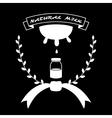 Natural milk vintage logo vector image
