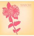 card with hand drawn flower vector image