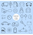 contour icons on the topic of car and vehicle vector image