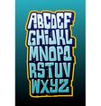 Graffiti comics style letttering font alphabet vector image