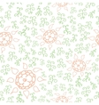 Hands draw floral seamless vector image