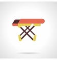 Ironing accessory flat color design icon vector image
