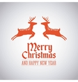 merry christmas animal character holiday december vector image