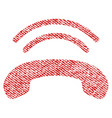 phone ring fabric textured icon vector image