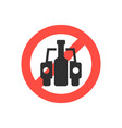 prohibition sign no drink driving vector image