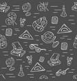 school class pattern with school supplies vector image