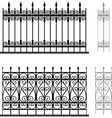 Wrought iron modular railings and fences vector image