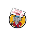 Republican Elephant Mascot Vote America Circle vector image