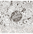 Cartoon cute doodles hand drawn Autumn frame vector image