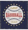 Baseball Colored Print vector image