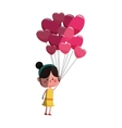 cute girl cartoon icon vector image