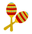colorful maracas icon isolated vector image