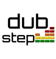 dubstep with dj equalizer music volume -on alpha vector image