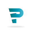 Letter P logo template vector image
