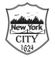New York city silhouette vector image