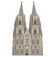 cologne cathedral vector image