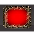 background frame with vegetable golden pattern vector image