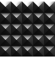 Black soundproofing foam background with light vector image