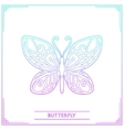 Butterfly Lineart vector image