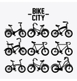Classic Bicycle bike icon sport concept vector image