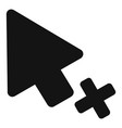 cursor failure icon simple black style vector image