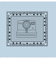 Flat about vintage camera design vector image