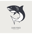Line logotype with shark vector image