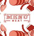 meat menu vector image