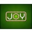 Merry Christmas Joy postcard vector image