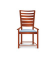 room furniture armchair isolated chair in vintage vector image