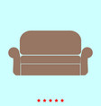 sofa set it is color icon vector image