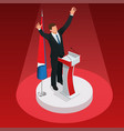 the man is the winner in the elections vector image